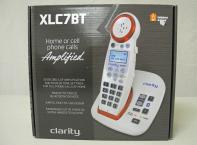 Clarity XLC7BT amplified Telephone for landline and Cellular connection. 50 DB of amplification and 4 tone settings. Uses Bluetooth technology for Cellular connection