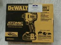 Dewalt Atomic Compact Series Impact Driver Kit. Includes 20V Lithium Ion battery and charger. Brushless motor